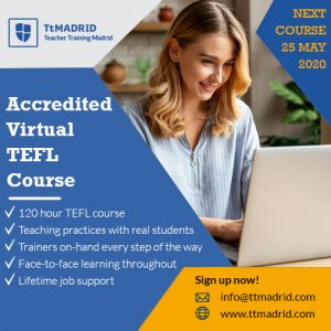 TtMadrid - online TEFL from a leading Course in Madrid